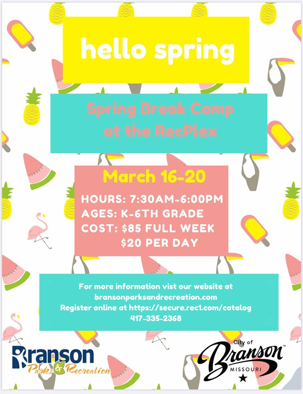 Spring Break Camp 2020