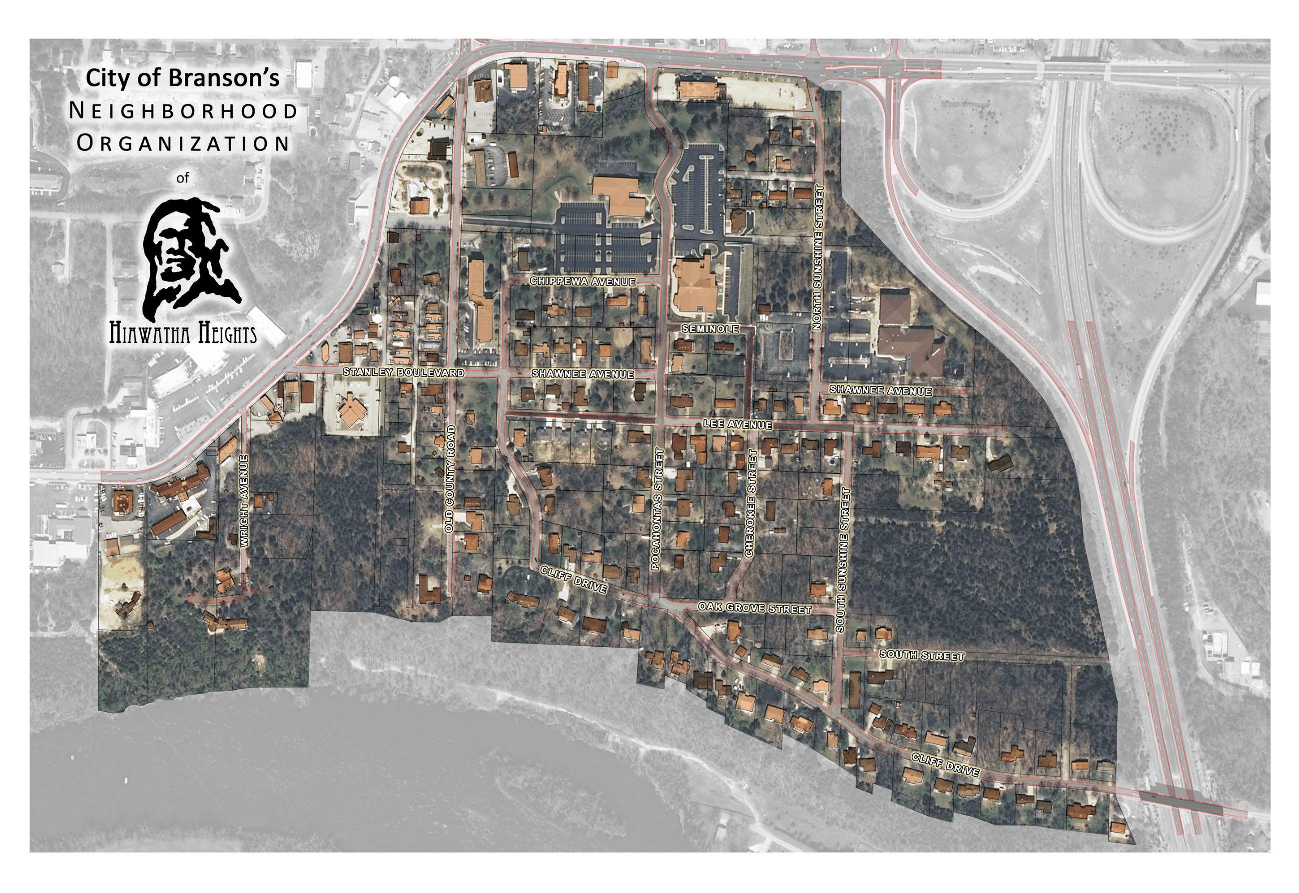 Hiawatha Heights Map