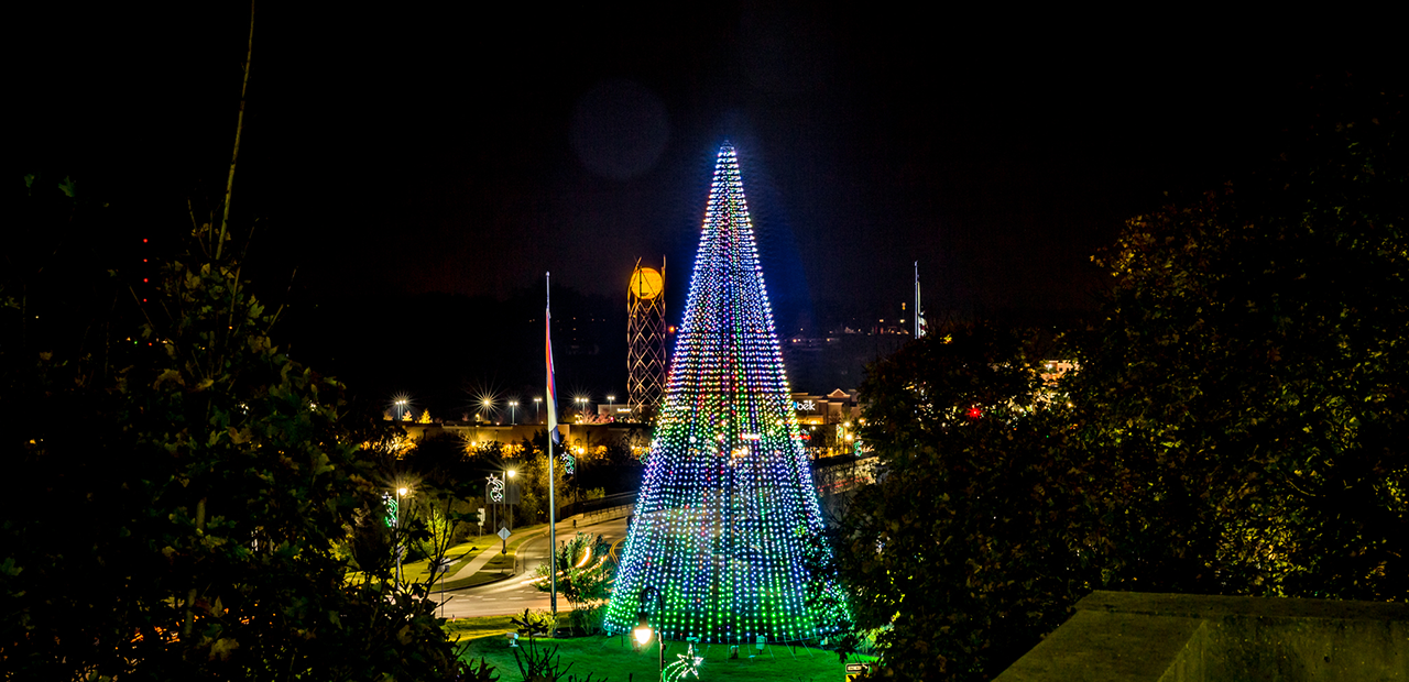 roundabout christmas tree