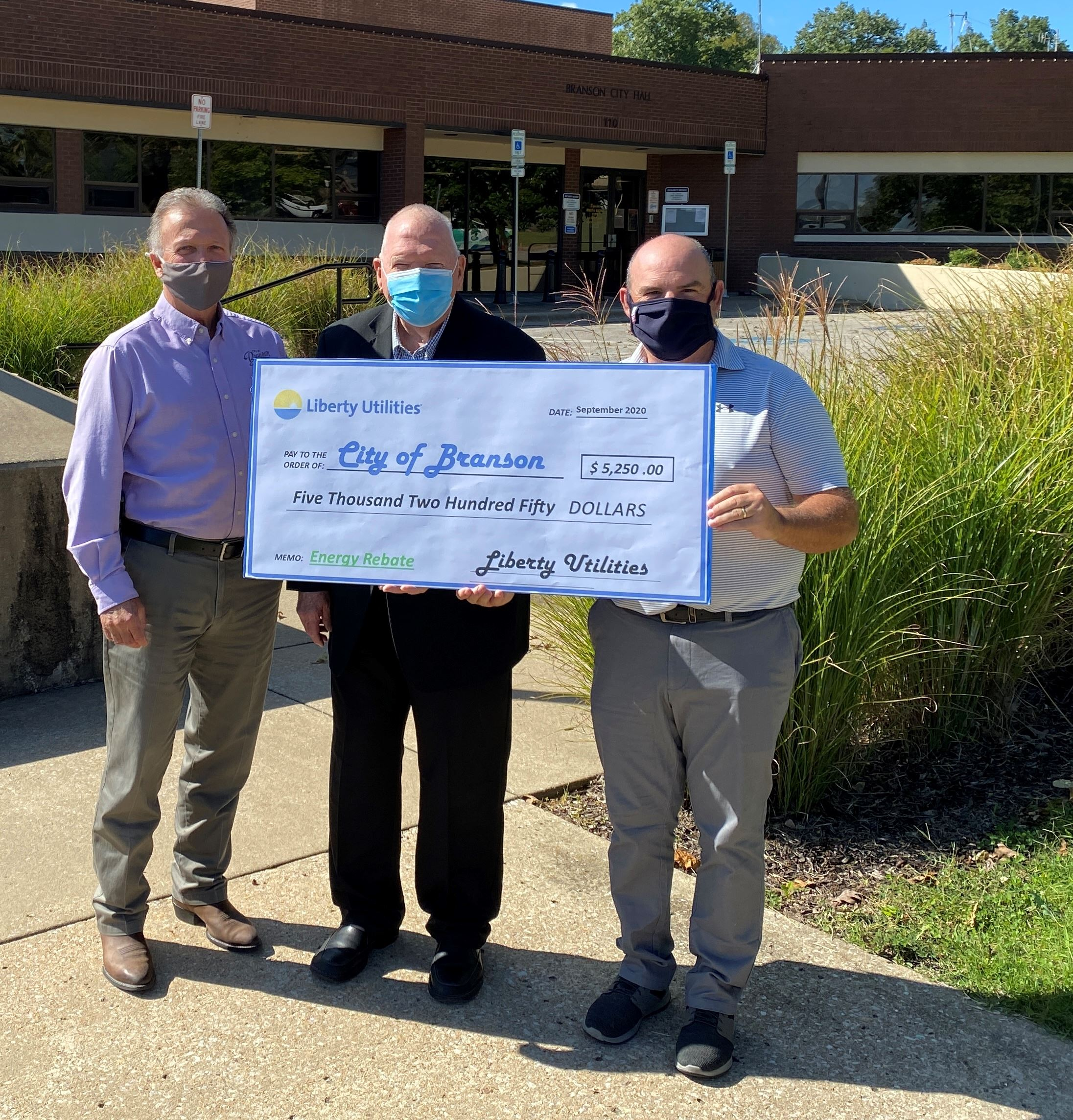 Liberty Utilities Rebate Check Presentation